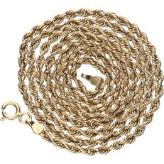 14 kt - Yellow gold twisted link necklace - length: 46.5 cm