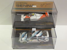 Minichamps - Scale 1/43 - 2x Ayrton Senna Ford Sierra RS Cosworth + McLaren Ford MP4/1C F1