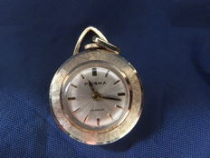 "14 karat yellow gold ""Prisma"" women's pendant watch with a Swiss ETA timepiece, Europe around 1965"