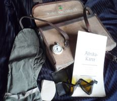 Afrika DAK tropical motorcycle dispatch rider case with contents