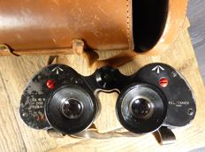 WW2. An English Navy binoculars with original leather case. Maker:  REL Research Enterprises Limited, 7 x 50.
