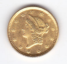 USA - 1 Dollar 1852 Restrike - gold