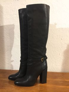 YSL - boots with block heels in black -