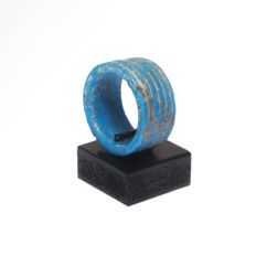 Egyptian Faience Ring, 2.3 cm inside D - DISPLAY ONLY