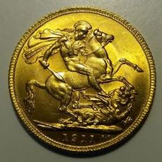 Great Britain - Sovereign 1911 - George V - Gold