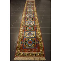 Beautiful oriental rug designer Berber carpet, 450 x 80 cm,  Made in Morocco around 1970/1980, new wool