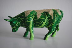 Cow Parade - Nicky Hooper - type Cowliflower - medium - Resin with licence no 15426