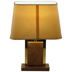 Designer unknown – Brass and Marble Table Lamp