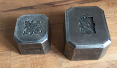Two heavy antique French factory stamps - approx. 1900 - France