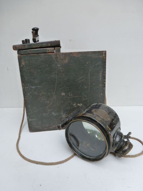 British signal lamp 1918, military edition!