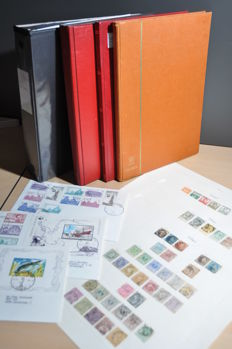 Belgium - Batch with a collection in an album, on sheets and in stock books