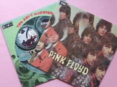 First albums by Pink Floyd (The Piper at the Gates of Dawn) and The Soft Machine (rotating wheel cover)