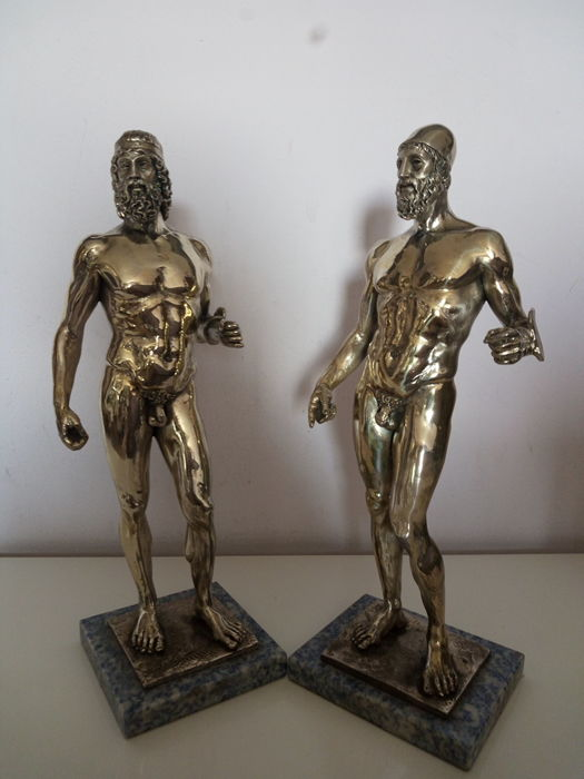 sculptures (2) - Silver laminated - A.Santini - Italy - 1950-1999
