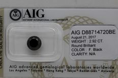 Black diamond - 2.92 ct - No Reserve Price