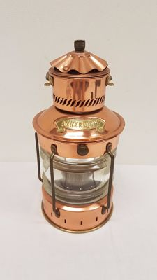 Copper anchor/ship light lantern