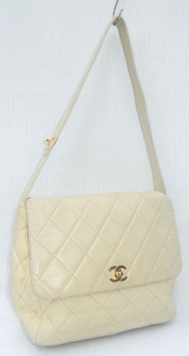 Chanel - Diamond Quilted CC Turn Lock Hand Tote Shoulder Bag