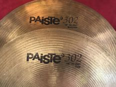 Numerous Paiste - Pearl - Remo - Lot of 9 cymbals
