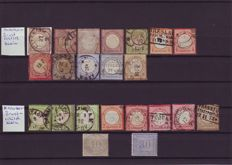 GE, German Empire, stamps with small breast shield, Michel nr. 1 to 14