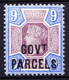 Great Britain 1888 Queen Victoria - 9d dull purple & black with Govt. Parcels overprint, Stanley Gibbons O67