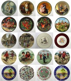 Royal Albert, Lomonosov, Knowles, Bradex - Collection of 20 Decorative Porcelain Plates