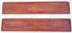 Set of polychrome wooden book covers with gold decorations - Tibet - 18th century