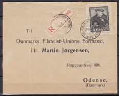 Belgium 1935 - Letter with Tassis stamp from franked block - OBP 410 on letter