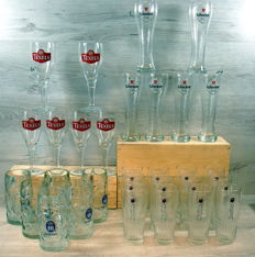 Collection of beer glasses