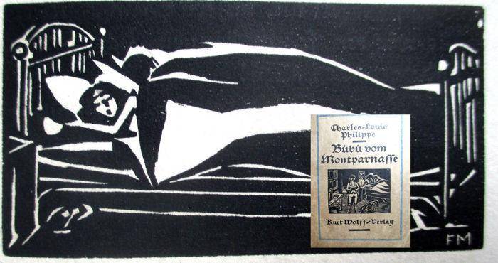 Charles-Louis Philippe: Bübü with 20 woodcuts by Masereel (1889 - 1972) first edition 1920