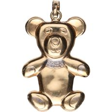 14 kt - Yellow gold pendant in the shape of a bear - Length x width: