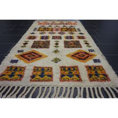 Beautiful Oriental carpet designer Berber carpet – Size: 200 x 120 cm – Made in Morocco around 1970/1980 – New wool