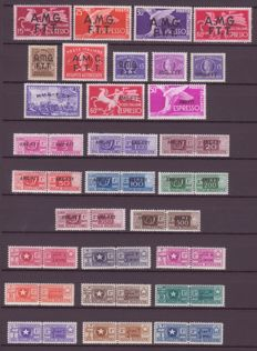 Trieste A and Somalia AFIS - selection of stamps for services.
