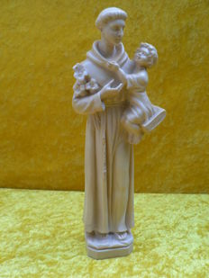Classic figure - St. Anthony by A. Santini - Italy - 1950 / 1960