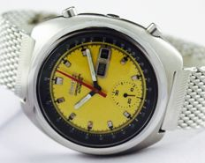 Seiko Chronograph Yellow Ref 6139-6012 Men's Wristwatch - circa 1970s