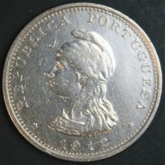 Portuguese India -- Rupee 1912 'Liberty Head' -- silver