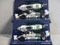 Minichamps - Scale 1/43 - Lot with 2 x Williams Ford FW07C 1981
