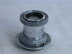 INDUSTAR-22 50mm/f=3.5 collapsible lens, made in USSR, ca. 1953. M39 screw mount.