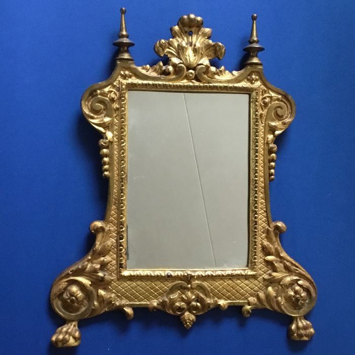 Gilded bronze French baroque mirror, early 20th century