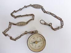 German officers compass on treated necklace, 1916