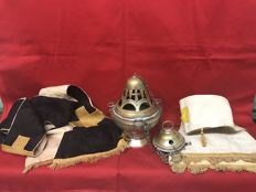 Original blessed censer used in masses, plus two antique stoles - Italy, 19th century