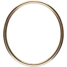 Massive 14 kt yellow-gold bangle - diameter: 5.5 cm