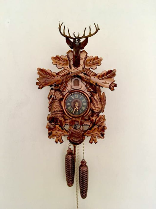 Large Schwarzwald cuckoo clock Black Forest Movement, late 20th century