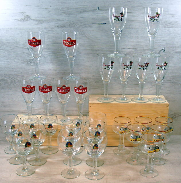 Collection of special beer glasses