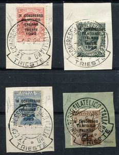 Italy, Kingdom, 1922 - Trieste philatelic convention - Complete series, Sass. Nos. 123/128