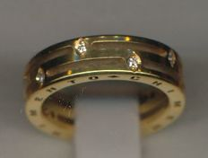 Chimento - wedding band in 18 kt yellow gold with diamonds totalling 0.10 ct - ring size 12