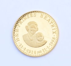 The Netherlands - Gold medal for the occasion of the 30th birthday of HRH Princess Beatrix 1968