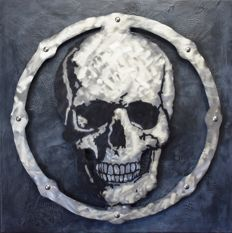 Oleg - Skull on brushed metal