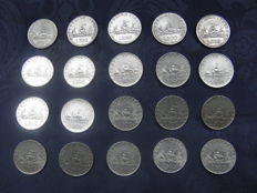 Italy, Republic - 500 Lire 'Caravelle' 1958/1960 (20 coins) - silver