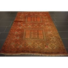 A beautiful handwoven Art Deco Afghan Hadjlu Oriental carpet 220 x 170 cm Afghan made in Afghanistan