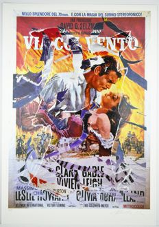 Mimmo Rotella - Via col Vento (Gone with the Wind)