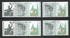 "Berlin se-tenant stamps 1962-90, cancelled collection with, among others, ""sights and attractions"" kpl. ex Michel no K 3 to W 98"